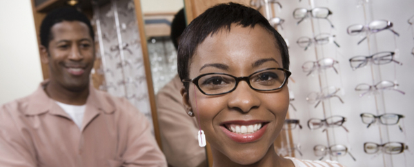 Woman enjoying Union Plus Vision Discounts